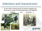 definitions and characteristics