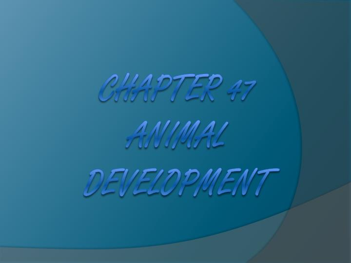 chapter 47 animal development n.