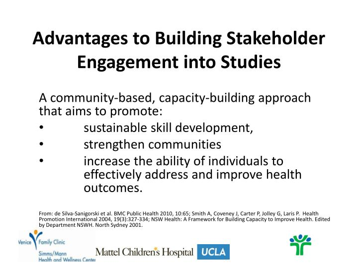 Advantages to Building Stakeholder