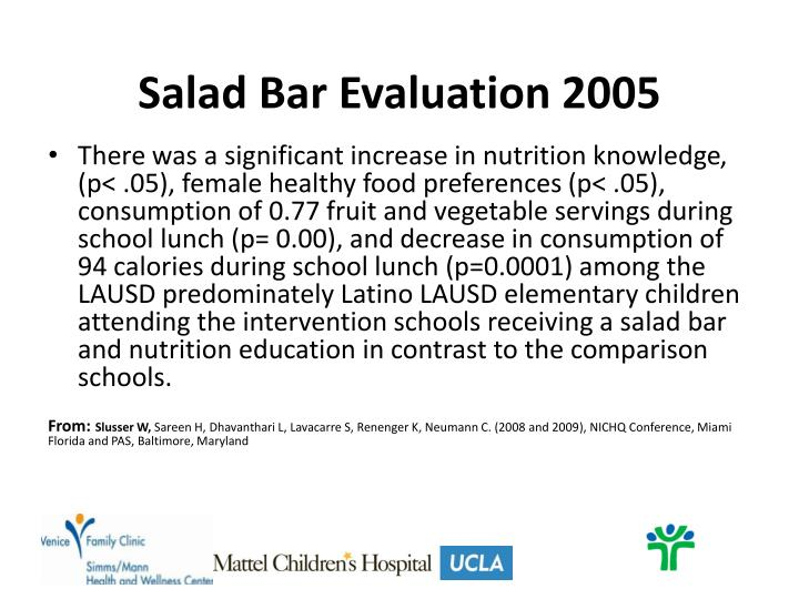 Salad Bar Evaluation