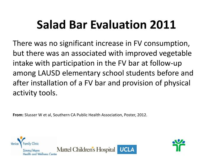 Salad Bar Evaluation 2011