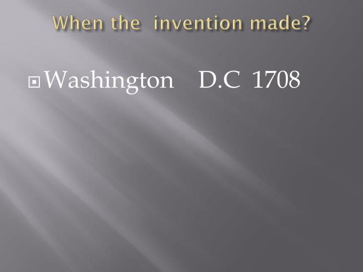 When the invention made