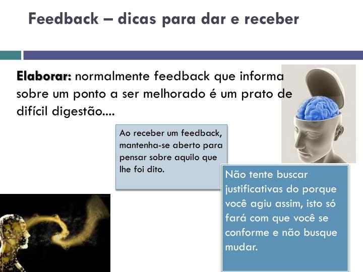 Feedback – dicas para dar e receber