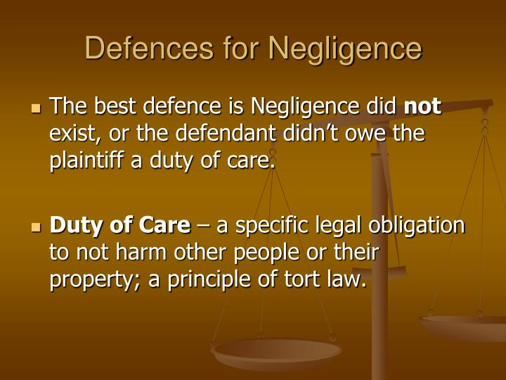 negligence duty of care and buick • the formulation of the standard of care is a question of law for the court once the court has formulated the standard, its application to the facts of the case is a task for the trier of fact if reasonable minds might differ as to whether.