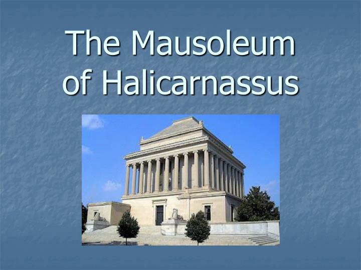 the mausoleum of halicarnassus n.