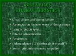 behavior characteristics1