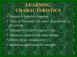 learning characteristics1