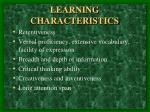 learning characteristics2