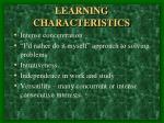 learning characteristics3