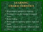learning characteristics4