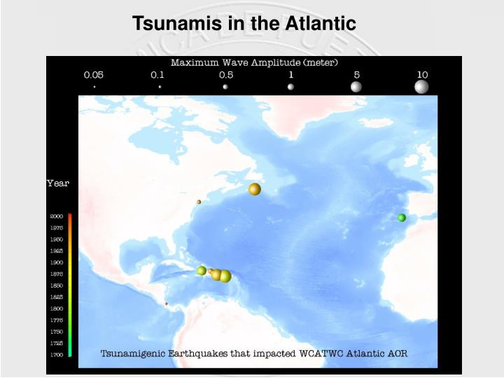 Tsunamis in the Atlantic