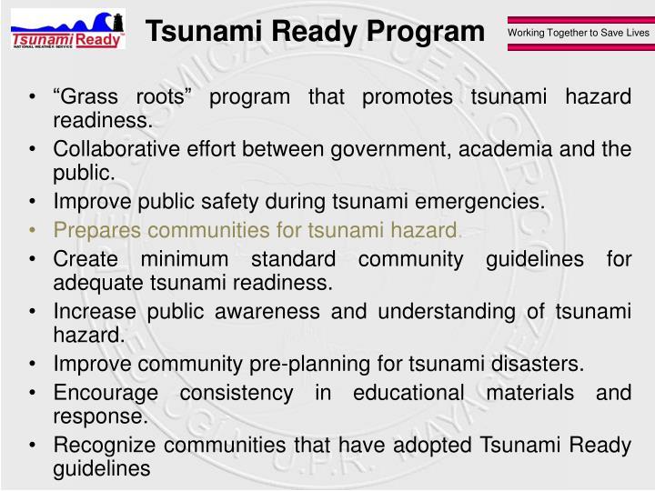 Tsunami Ready Program