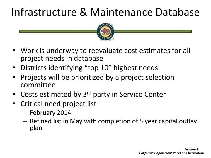 Infrastructure & Maintenance Database
