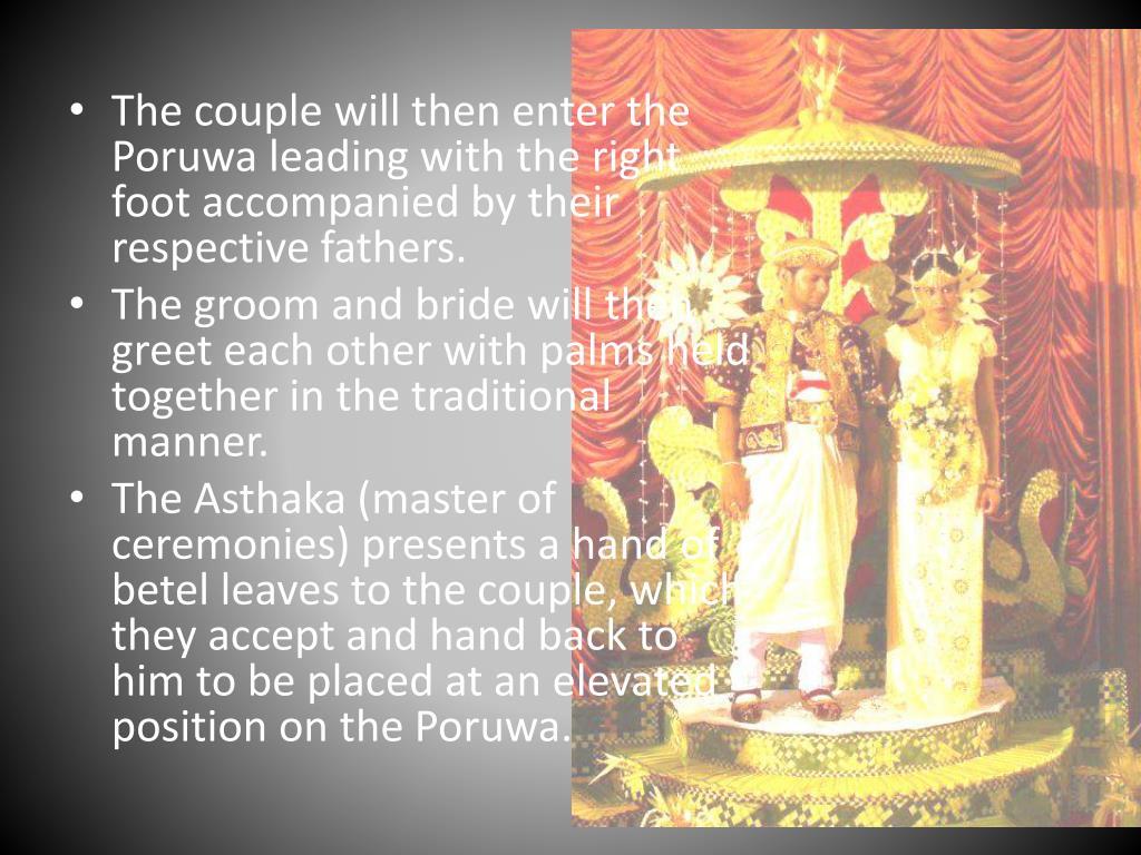 PPT - Traditional Wedding in Sri Lanka PowerPoint