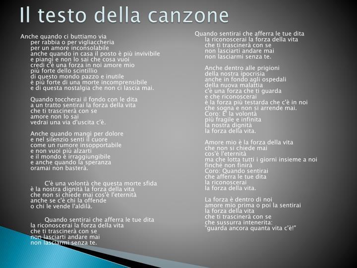 Ppt La Forza Della Vita Powerpoint Presentation Id2090846