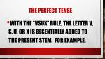 the perfect tense5