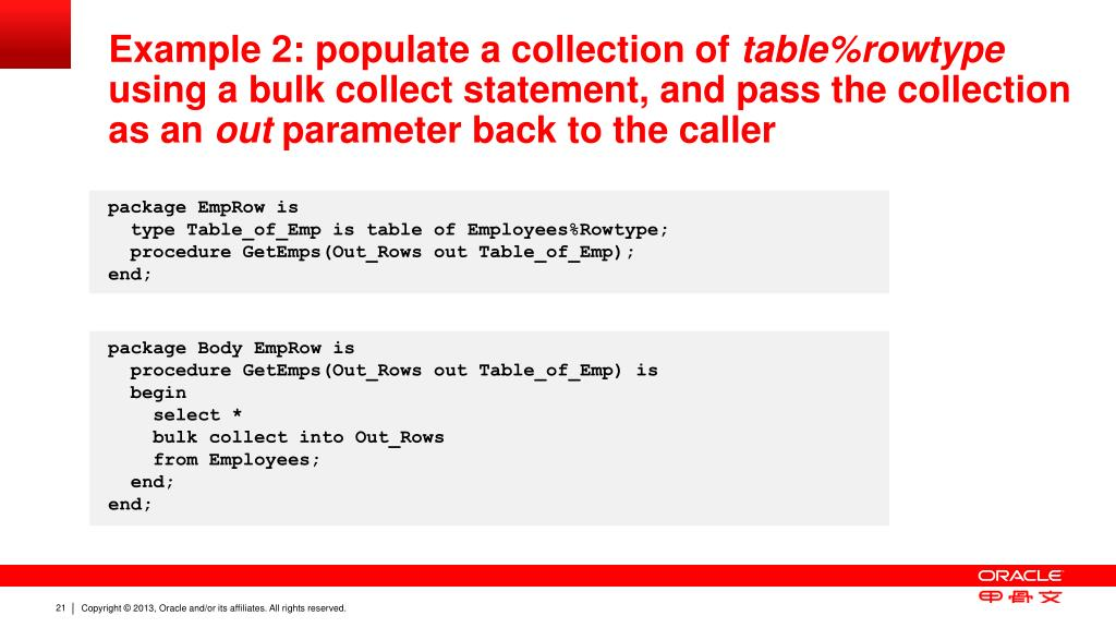PPT - New PL/SQL Capabilities in Oracle Database 12 c