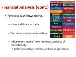 financial analysis cont1