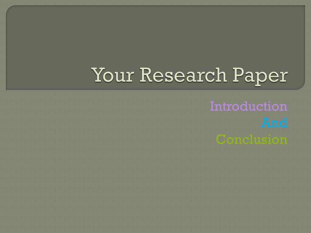 research paper ppt presentation