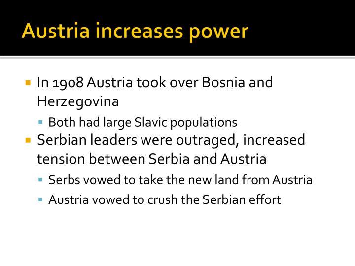 Austria increases power