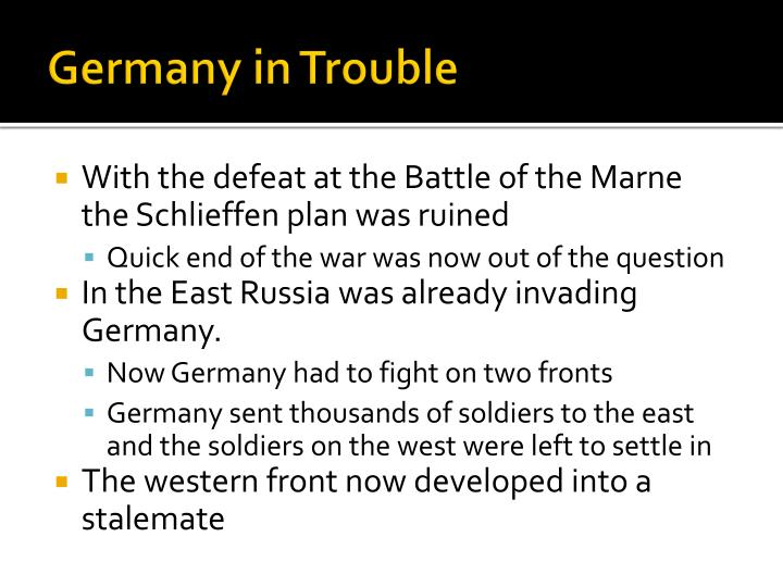 Germany in Trouble