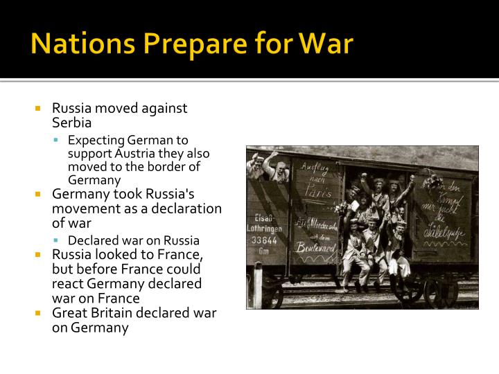 Nations Prepare for War
