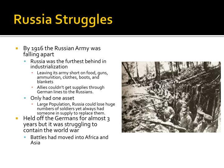 Russia Struggles