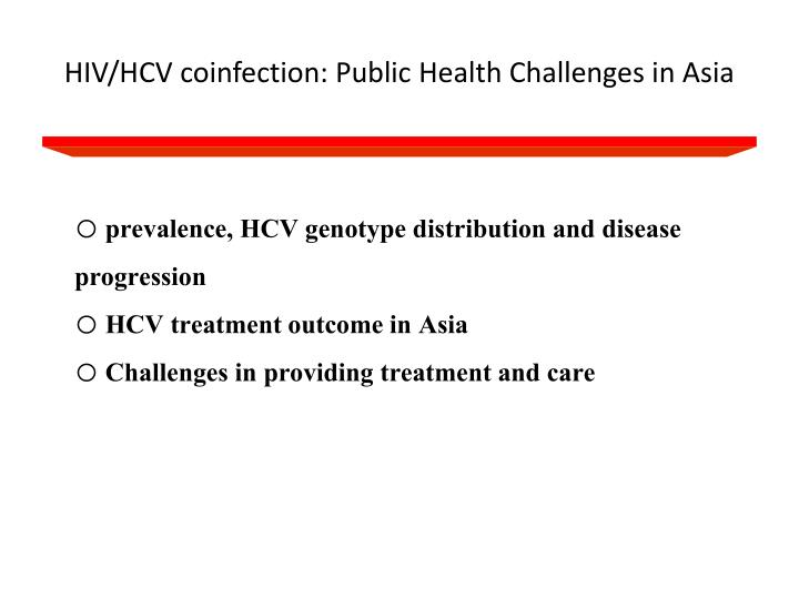 Hiv hcv coinfection public health challenges in asia
