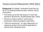 factory council movement 1919 20 1