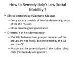 how to remedy italy s low social mobility