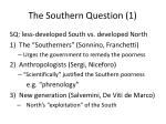 the southern question 1