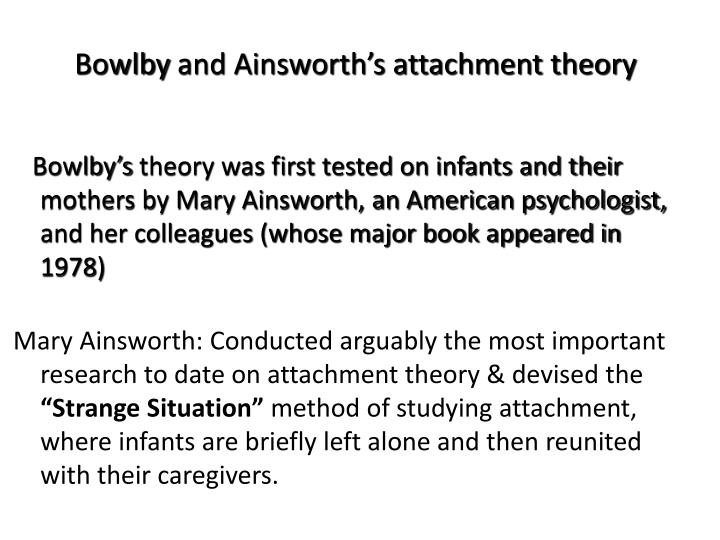 mary ainsworth strange situation study