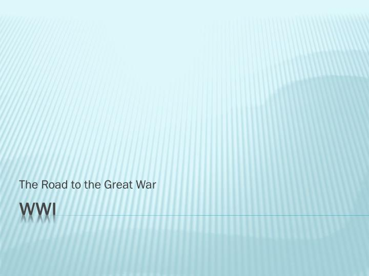 the road to the great war n.