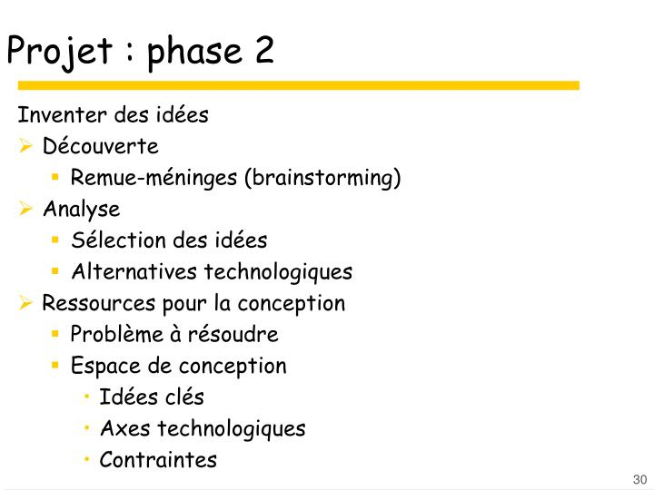 Projet : phase 2
