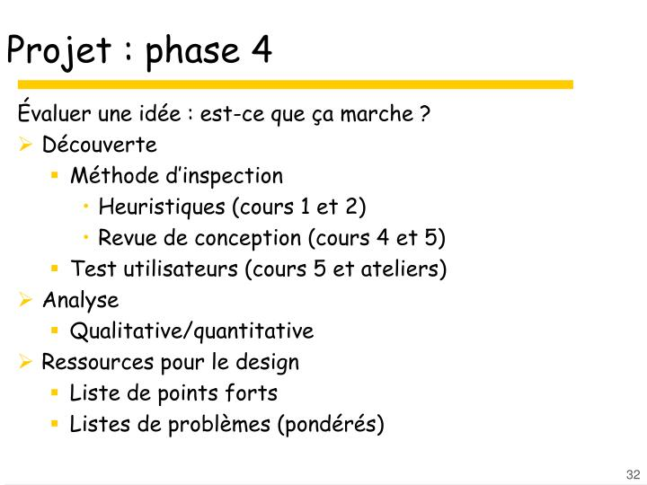 Projet : phase 4