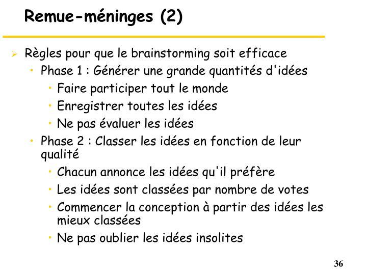 Remue-méninges (2)