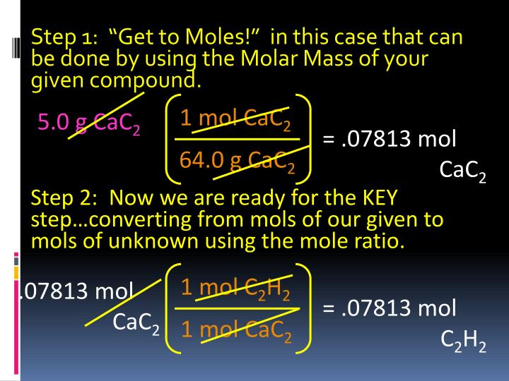 1 mol CaC