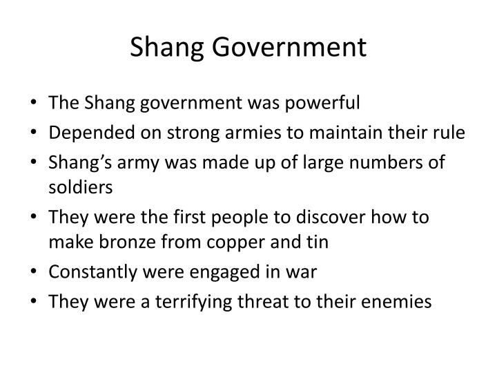 Shang government
