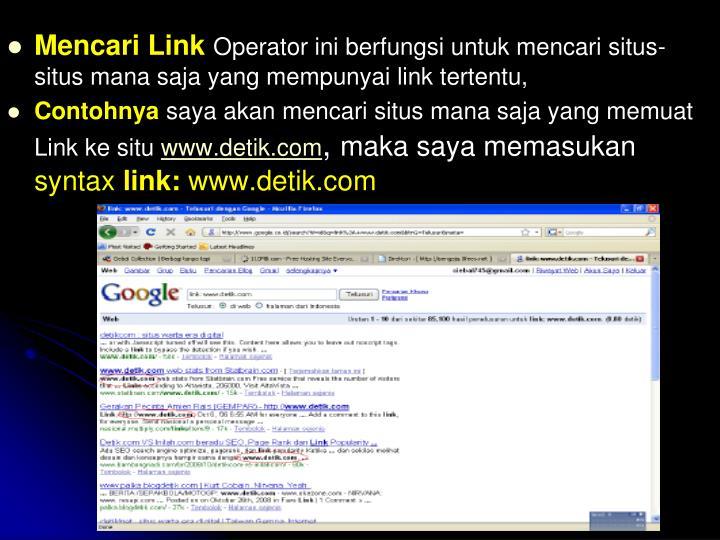 Mencari Link