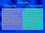 principes d int grit d inviolabilit