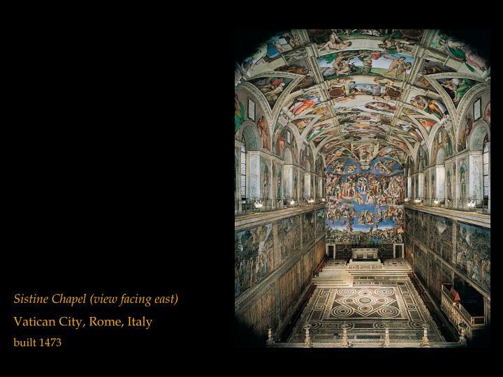 Sistine Chapel (view facing east)