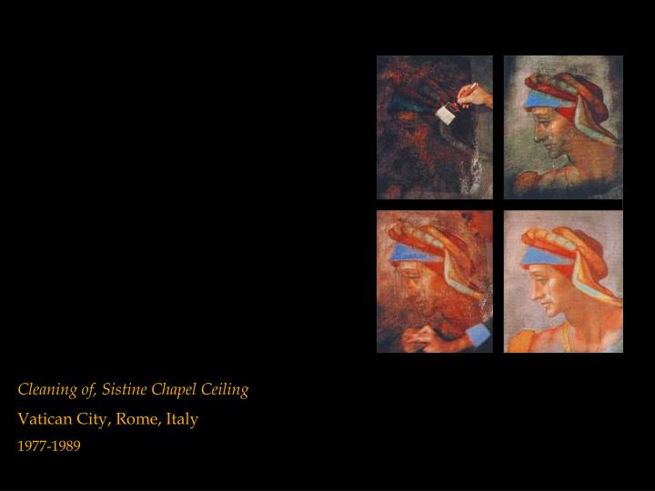 Cleaning of, Sistine Chapel Ceiling