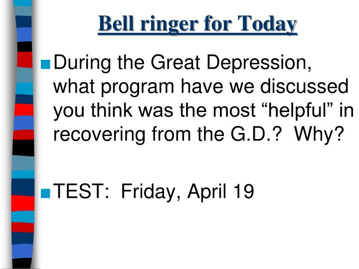 Bell ringer for Today