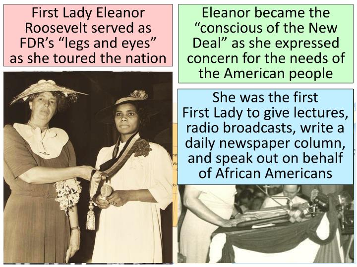 """First Lady Eleanor Roosevelt served as FDR's """"legs and eyes"""""""