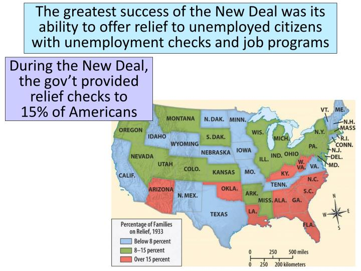 The greatest success of the New Deal was its
