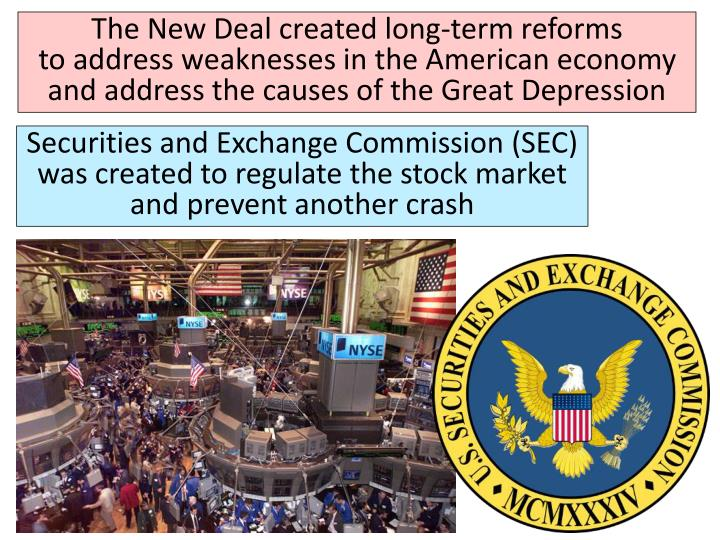 The New Deal created long-term reforms