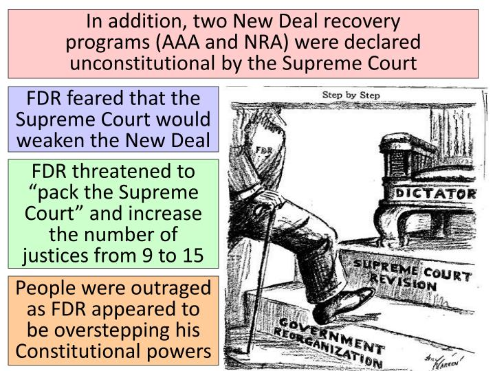 In addition, two New Deal recovery
