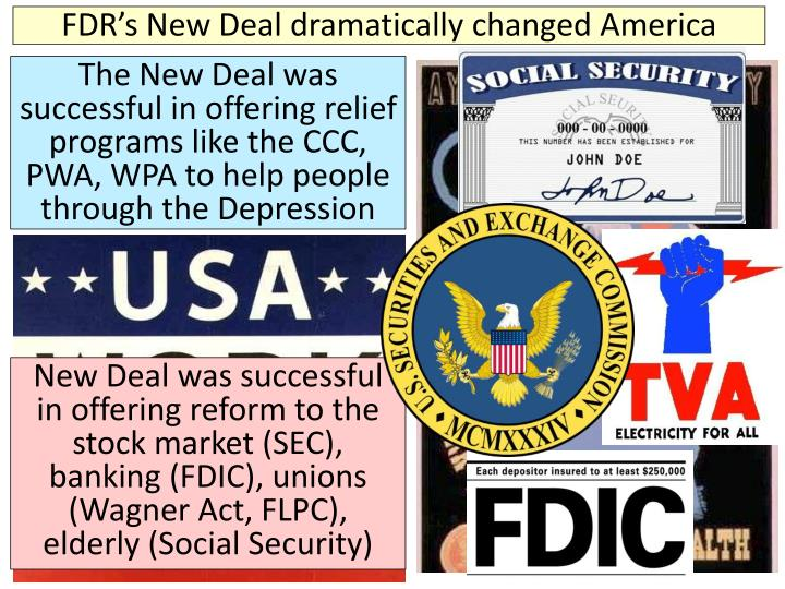 FDR's New Deal dramatically changed America