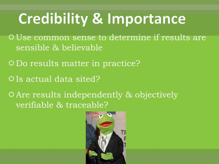 Credibility & Importance