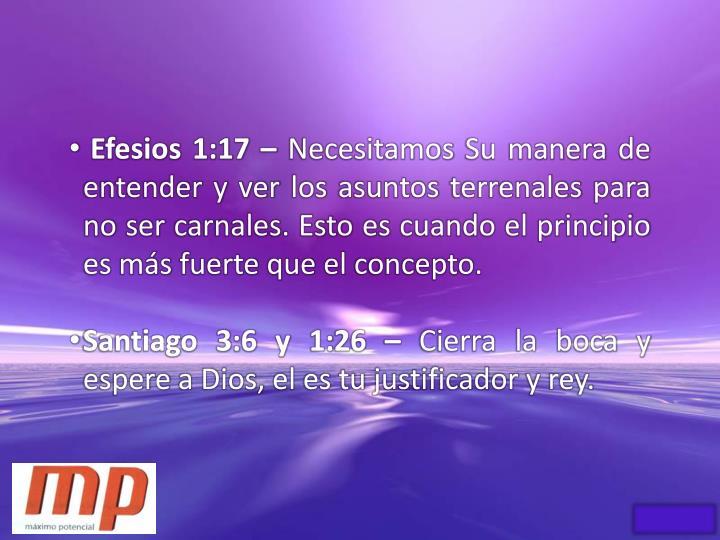 Efesios 1:17 –